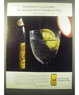 1965 Schweppes Tonic Water Ad - You'll find the secret of Schhh in every... - $14.99