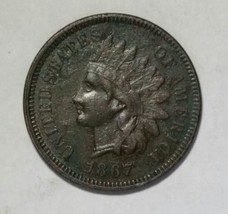 1867 Indian Head Penny / Cent Coin Lot# MZ 4703