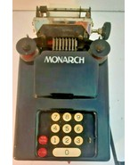 VINTAGE Monarch Accounting Calculator HAND CRANK ADDING MACHINE parts/s  - $19.31