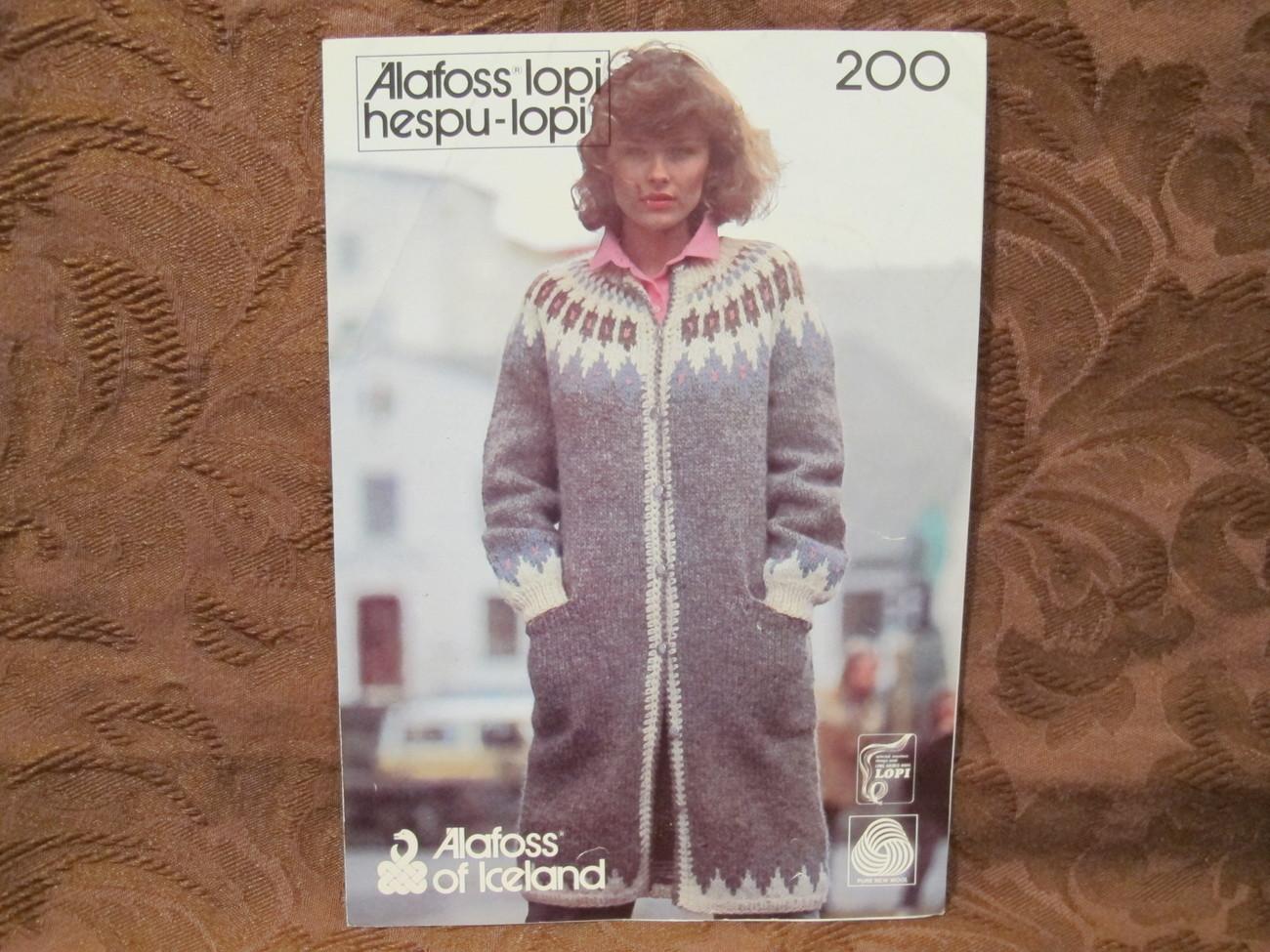 Alafoss Lopi ICELAND Knitting Patterns and similar items