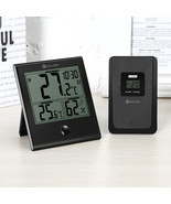 Home Glass Panel Thermometer Hygrometer Humidity Monitor Comfort Indoor ... - $19.99