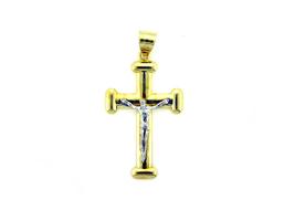 14K Gold Plated Cross Charm Pendant Men & Women CP04 - $13.71