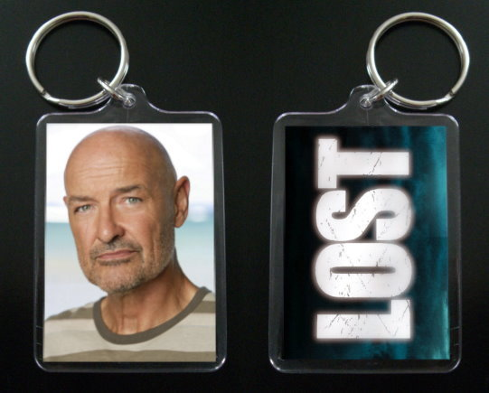 Primary image for LOST JOHN LOCKE keychain / keyring TERRY O'QUINN  #1