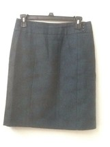 Ann Taylor Petites Cotton Tweed Pencil Skirt Polyester Lined Blue Gray Size 4P - $13.95
