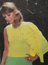 RETRO Vintage EMU Knitting Patterns ADULTS Womens CARDIGAN and SHELL SWEATER - $5.95