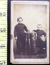 CDV Carte De Viste Photo Two Young Brothers! c.1859-80    - $3.20