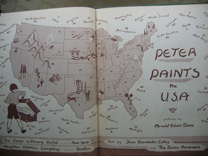Peter Paints the USA by Jean Poindexter Colby 1948