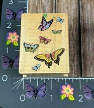 All Night Media Flutter of Butterflies 344E 1993 Rubber Stamp #G121 - $8.90