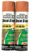 2 Rust-Oleum 15 Oz RockSolid 316092 Timberline Solid Stain One Coat Cove... - $20.99