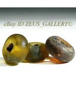 Ancient Glass Beads Yellow, Red Rondelle Ex Bonhams Sale London UK 2004 - $85.50