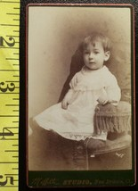 CDV Carte De Viste Photo Cute Boy Toddler in Dress! c.1859-8 - $3.20