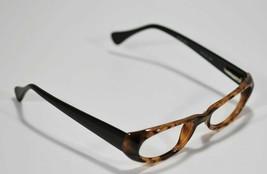 Fossil Unisex MAGGIE Shiny Tortoise Black Plastic Eyeglass Frames Rx Eyewear - $9.12