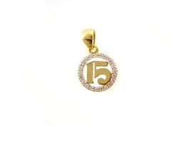 14K Real Gold Sweet Fifteen Charm  - $51.55