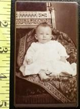 CDV Carte De Viste Photo Cute Baby Boy Dress! c.1859-80 - $3.20