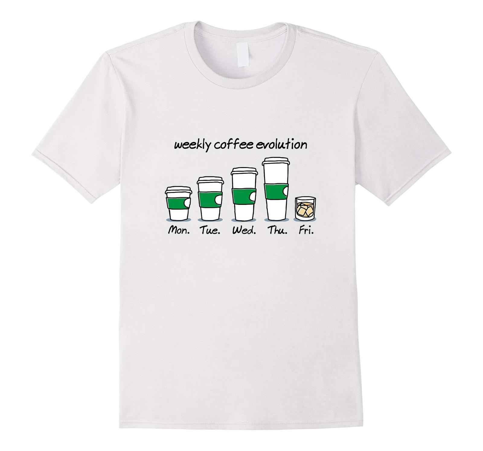 New Shirts - Weekly Coffee Evolution Drink T-Shirt Men image 4