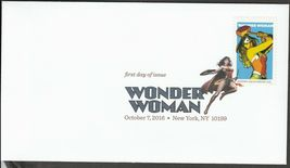 US 5149-5152 Wonder Woman (set of 4) DCP FDC 2016 image 2