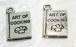 ART OF COOKING COOKBOOK FINE PEWTER PENDANT CHARM