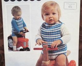 Vintage Patons Knitting Patterns BABY Babies ROMPER SET SUIT  - $3.95