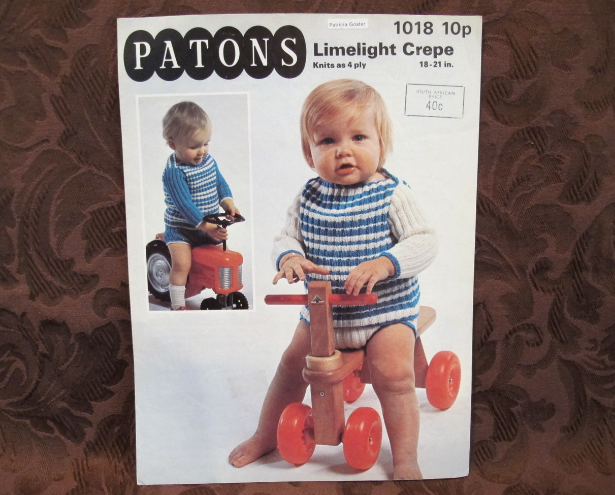 Vintage Patons Knitting Patterns BABY Babies and 50 similar items