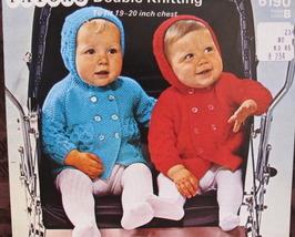 Vintage Patons Knitting Patterns BABY Babies HOODED JACKET Pram Set - $4.95