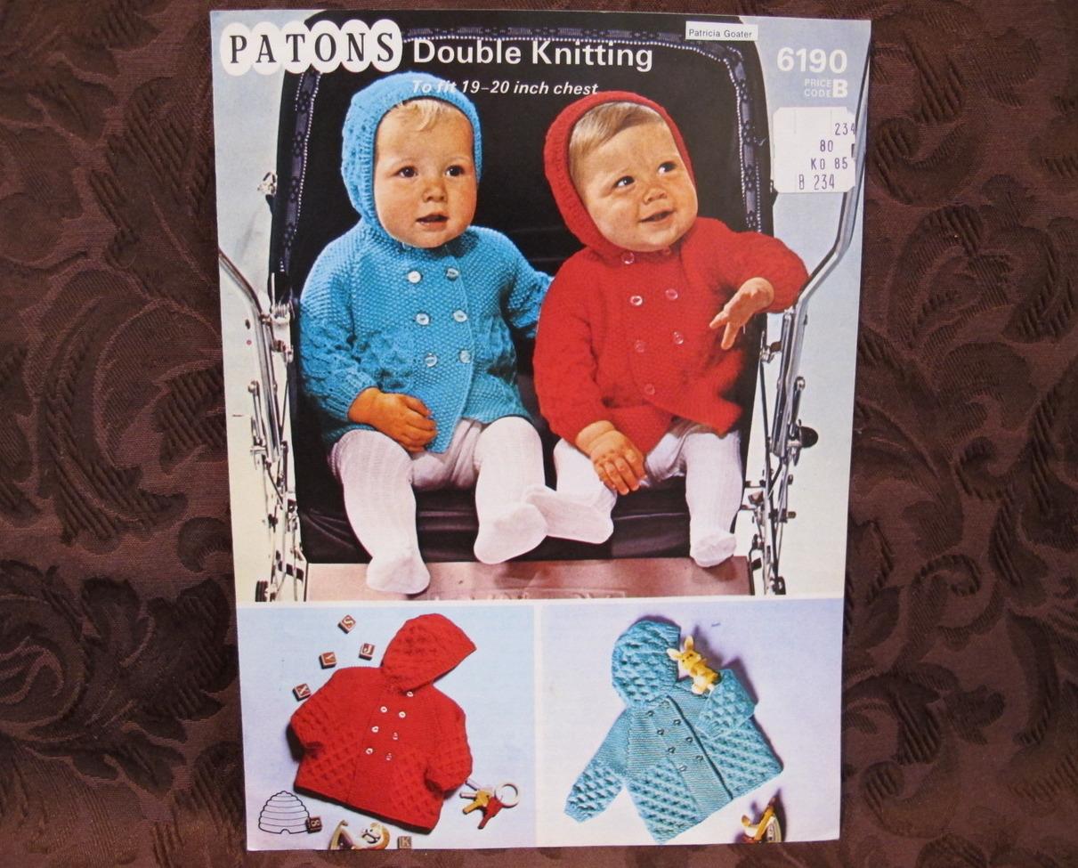 VINTAGE KNITTING PATTERN BABY PRAM Set 50