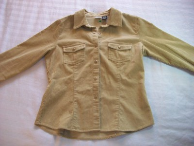 WOMEN LADIES ARIZONA TAN CORDUROY JACKET M MEDIUM