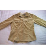 WOMEN LADIES ARIZONA TAN CORDUROY JACKET M MEDIUM - $6.99
