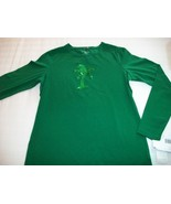 WOMEN LIZ CLAIBORNE PETITE SHIRT TOP M MEDIUM NWT GREEN - $8.99