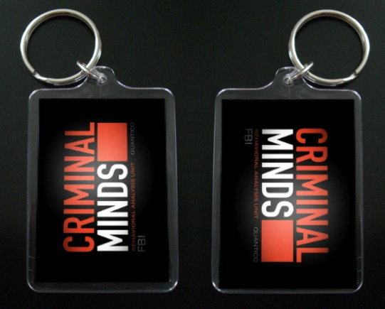 CRIMINAL MINDS logo two-sided keychain / keyring