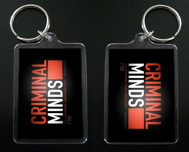 CRIMINAL MINDS logo two-sided keychain / keyring - $7.99
