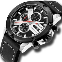CURREN Men Watches Military Sports Chronograph Male Casual Wristwatch Date Quart - $46.88