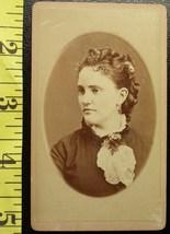 CDV Carte De Viste Photo Pretty Young Lady Side View! c.1859 - $3.20