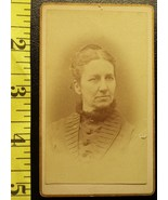 CDV Carte De Viste Photo Rich Lady Nice Dress! c.1859 - $3.20