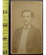 CDV Carte De Viste Photo Tall Handsome Man! c.1859-80   - $3.20