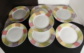 Studio Nova Tratorria Salad Plate (s) LOT OF 7 Plaid on White TPC23 Porc... - $29.65