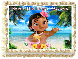 BABY MOANA image Edible cake topper party decoration - $6.50+
