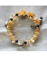 Judy Strobel Enchanting Citrine, Onyx & Quartz Crystal Cat Bracelet - $34.95