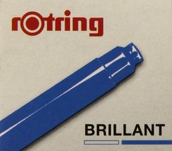 Rotring artpens ink cartridge riffils blue ( box of 6 ) - $14.36