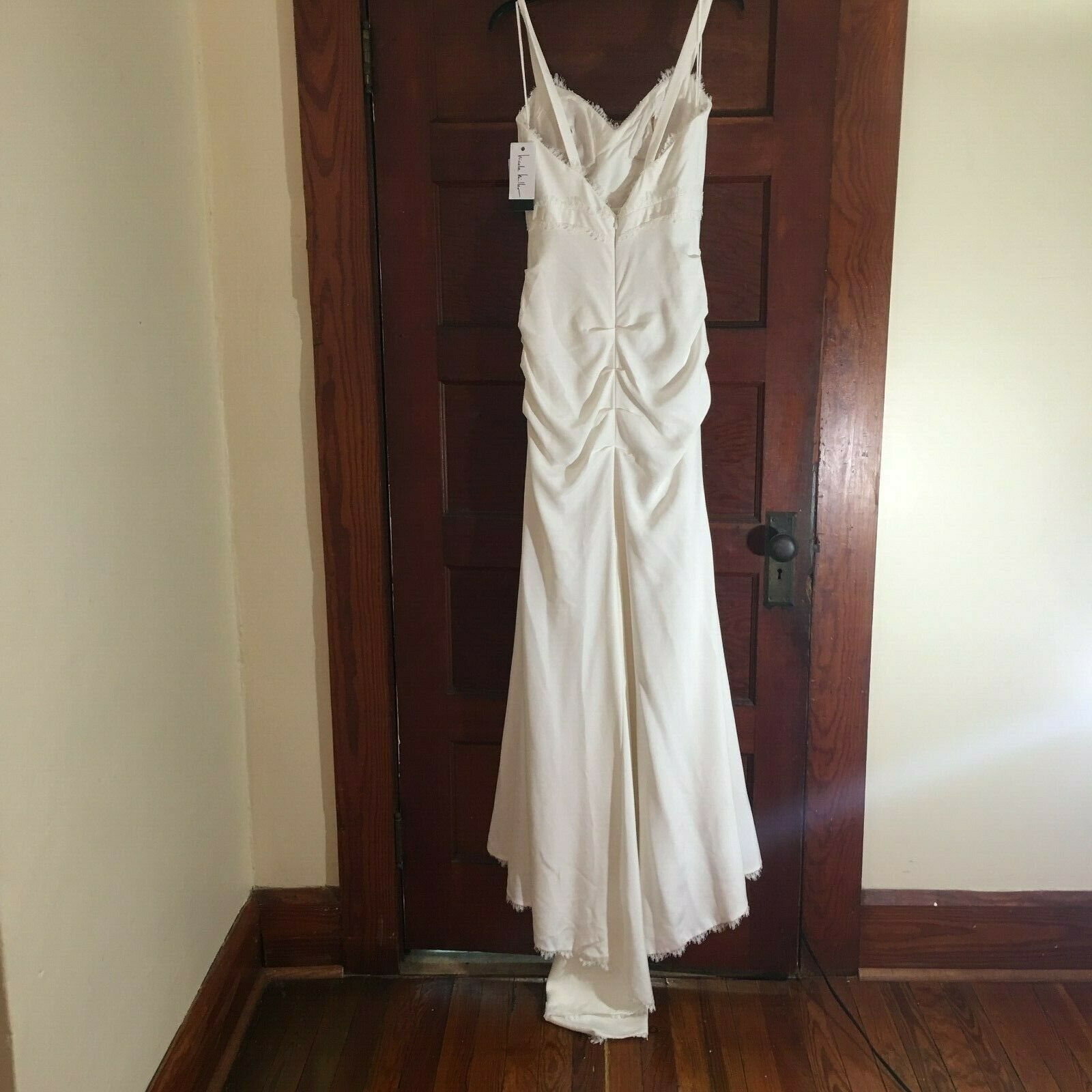Nicole Miller Tonya Women's Wedding Dress Bridal Gown Antiqu White Size 4 $1200