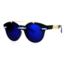 Retro Hipster Fashion Sunglasses Womens Round Top Metal Bar Frame UV 400 - £7.79 GBP