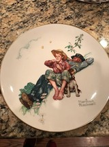 """Collecto  Plate """"Spring-Day Dreamers"""" by Norman Rockwell. 1974 L/E Gorha... - $14.01"""