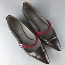 Marc Jacobs Flats pointy copper bronze red ballerinas size 37.5 7.5 Italy - $69.99