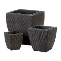Tuscany Wicker Square Planters Set of 3 - €84,89 EUR