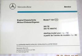 1990 Mercedes 300TE Owners Parts Manual W124 1988 1989 original - $49.99