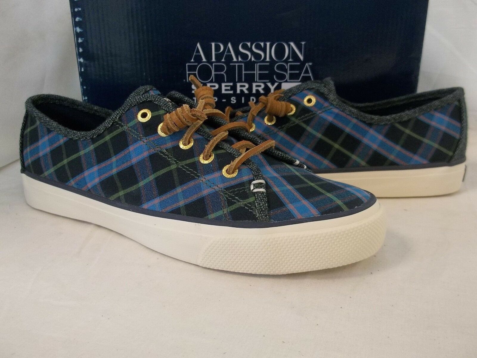 Sperry Top Sider 8 M Seacoast Ultramarine Blue Fashion Sneakers New Womens Shoes - $98.01