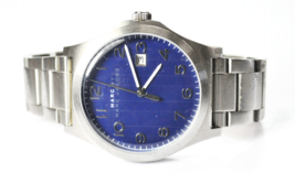 Marc Jacobs Jimmy Watch Blue Dial MBM5043 Date 44mm Stainless Steel Wristwatch - $69.29