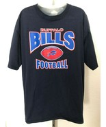 Mens sz L Navy Blue BUFFALO BILLS FOOTBALL graphic short sleeve t shirt - $17.81
