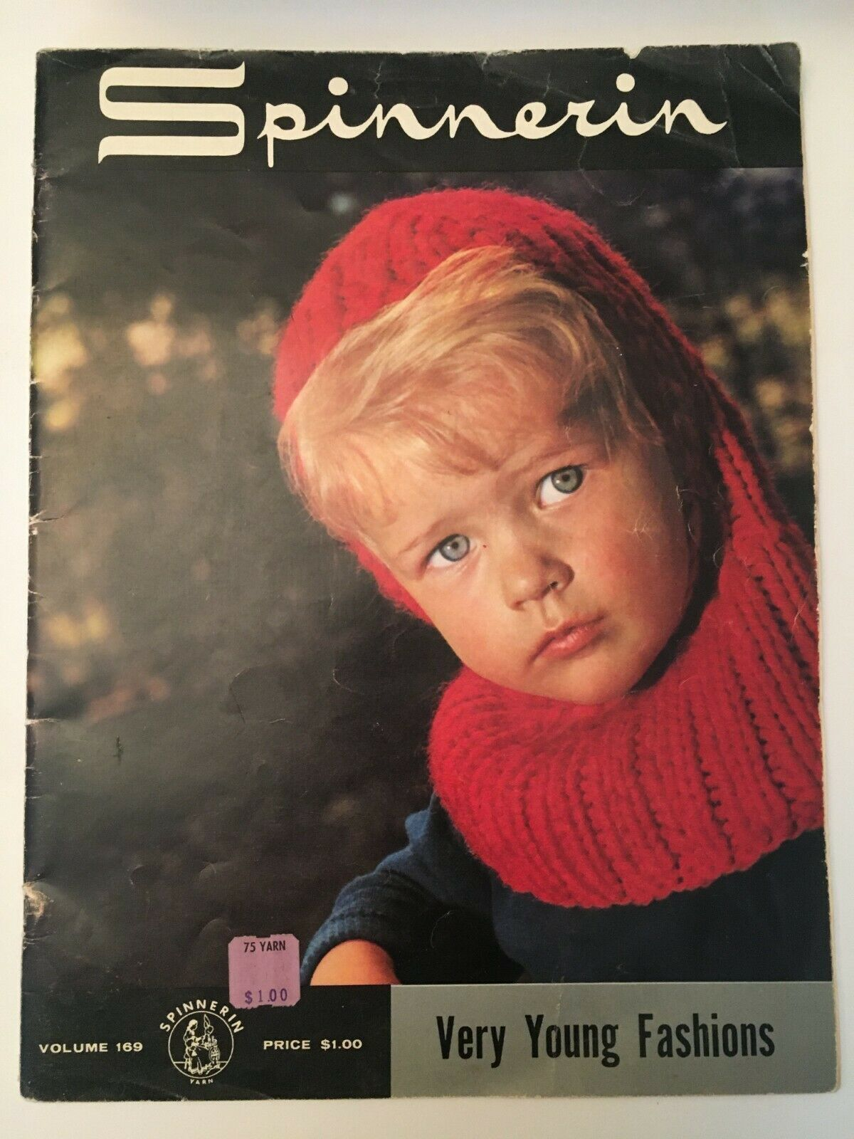 Spinnerin Very Young Fashions Volume 169 Vintage Craft Magazine Knitting Crochet - $6.30
