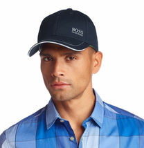 Hugo Boss Men's Cotton Twill Adjustable Sport Embroidered Logo Hat Cap (Navy) image 4