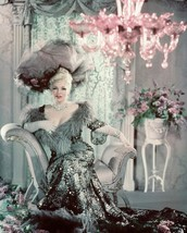 Mae West 16x20 Canvas Giclee Stunning Color Photo Shoot In Elegant Gown Hat - $69.99